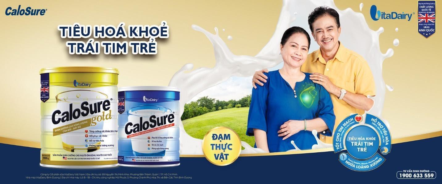 Sản phẩm sữa Calosure từ VitaDairy là sự lựa chọn hàng đầu của người cao tuổi