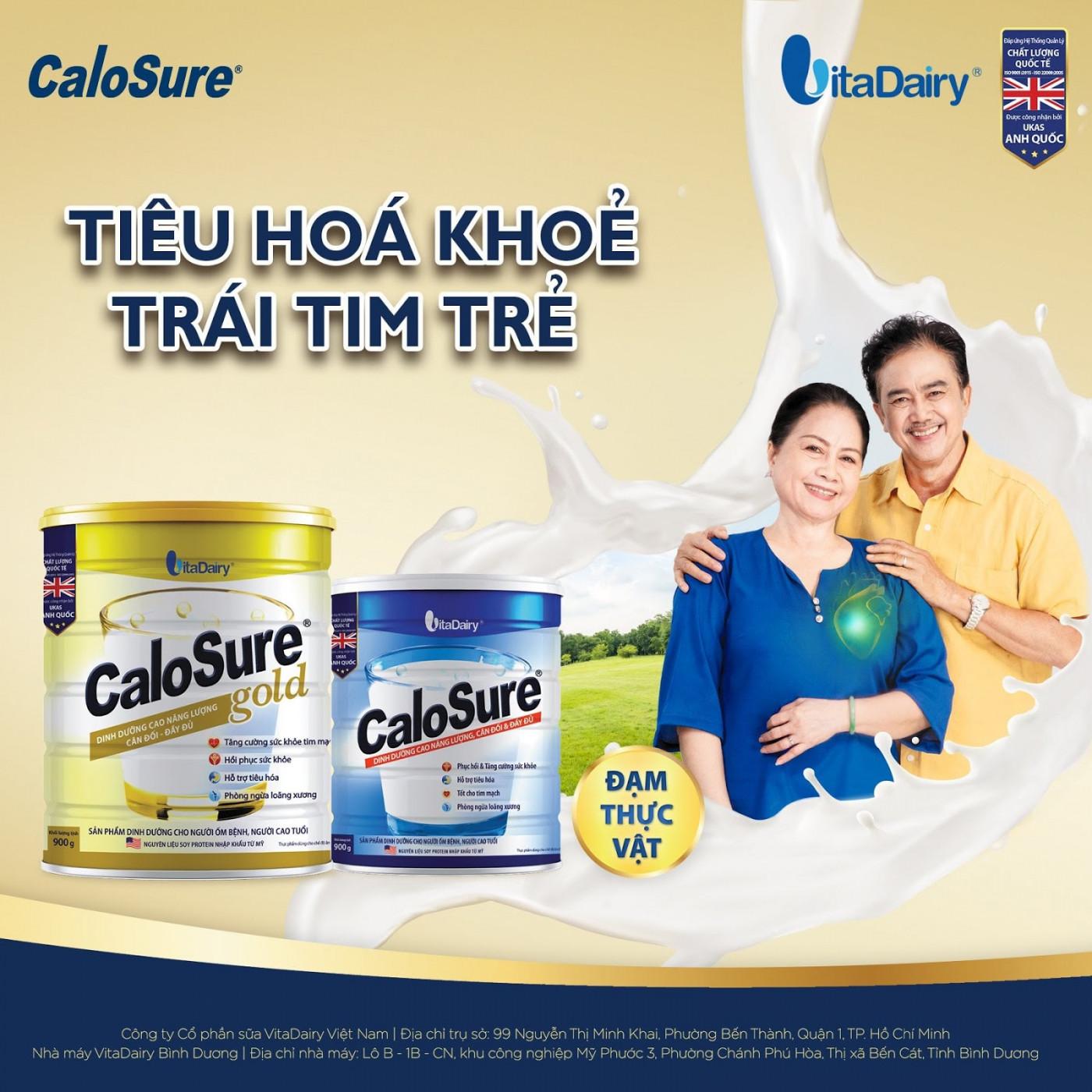 Dòng sữa cho người bị cao huyết áp CaloSure được nhiều người tin dùng