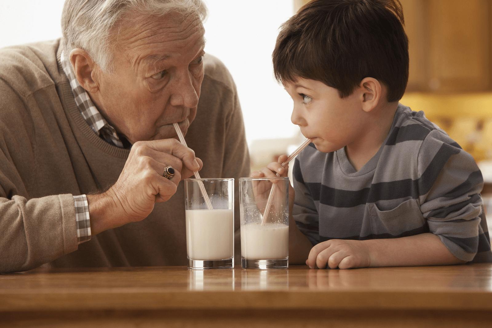 sữa tốt cho xương người trung niên
