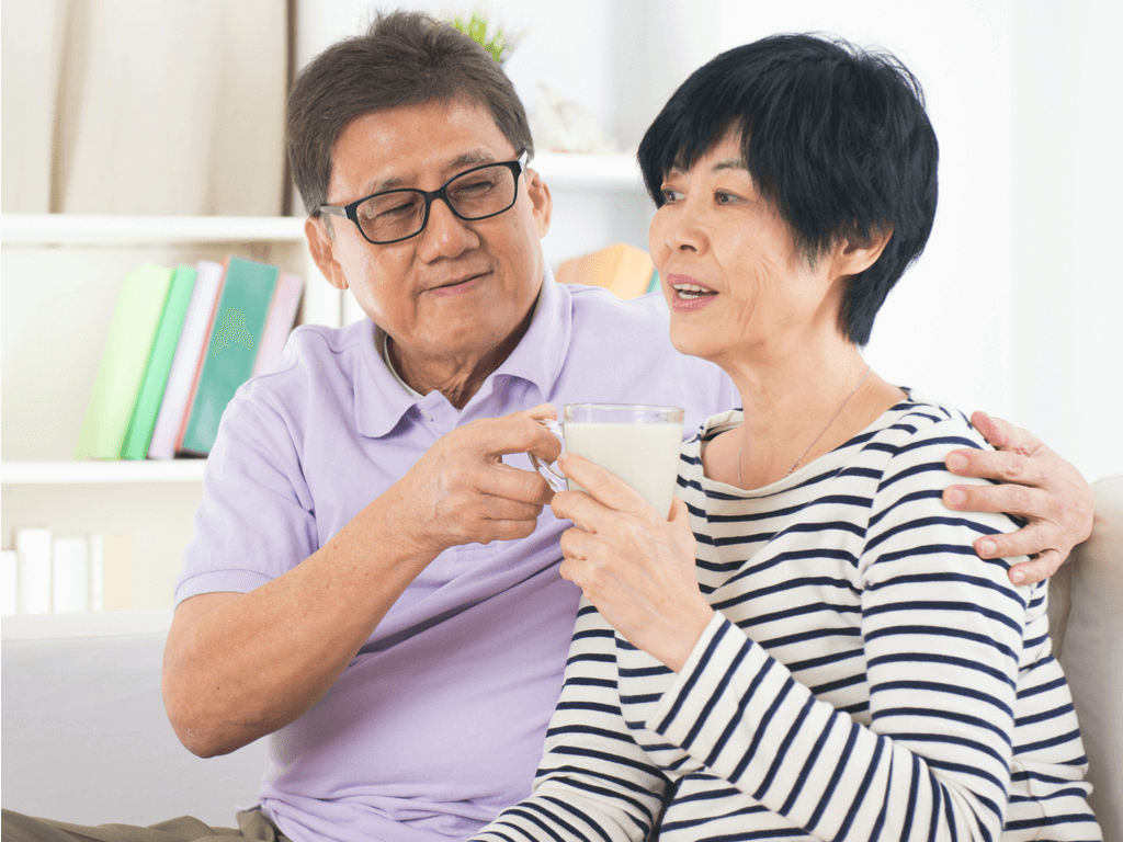 sữa cho người trung niên