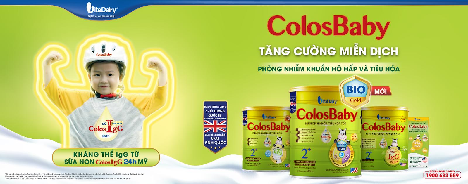 Gia Đình ColosBaby bổ sung kháng thể IgG tự nhiên từ sữa non ColosIgG 24h độc quyền từ Mỹ