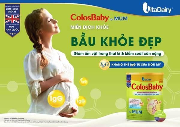 ColosBaby gold for Mum giúp hỗ trợ một thai kỳ khoẻ mạnh